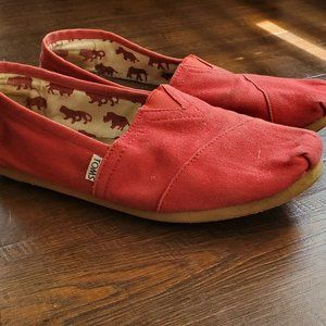 Toms Red Classic Flats